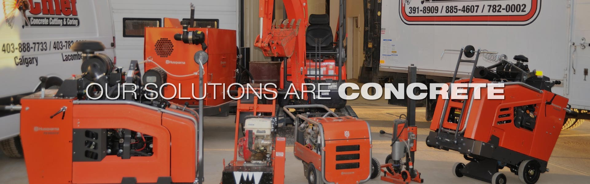 Our Solutions are Concrete | Chief Concrete Cutting & Coring equipment